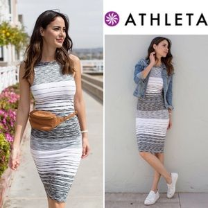 Athleta Stripe Midi Tank Dress Scoop S Tall